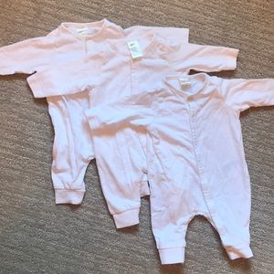 H&M white footless one piece outfit set of 3